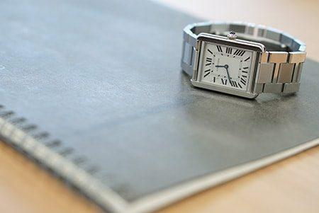 時計とノート